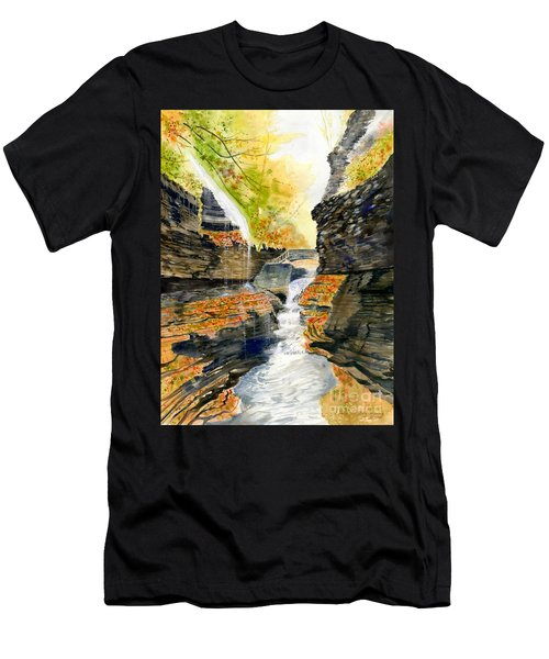 Autumn At Rainbow Falls  Men's T-Shirt (Athletic Fit)
