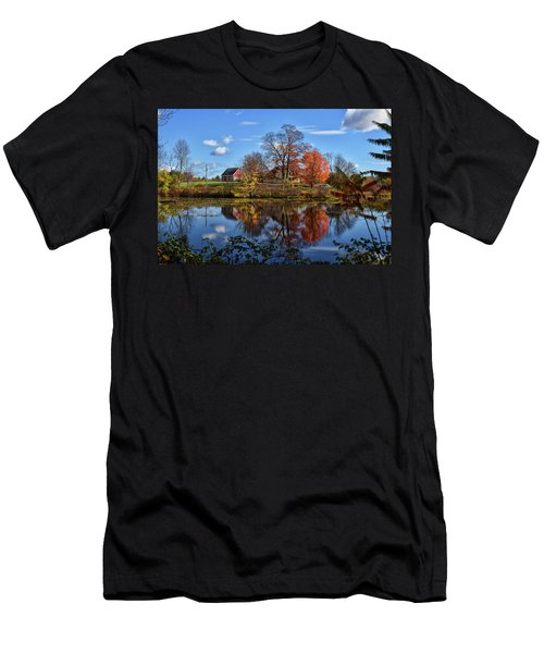 Autumn At The Farm Men's T-Shirt (Athletic Fit)