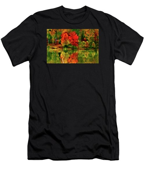 Autumn At The Lake-artistic Men's T-Shirt (Athletic Fit)