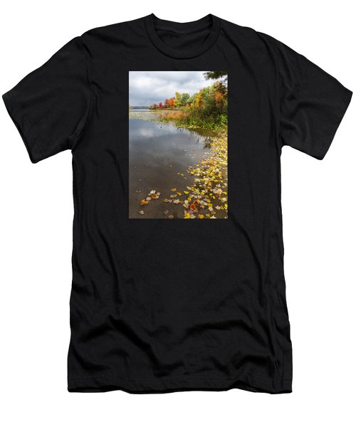 Autumn At The Lake In Nh Men's T-Shirt (Athletic Fit)