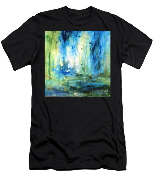 Spring Rain  Men's T-Shirt (Slim Fit) by Laurie Rohner