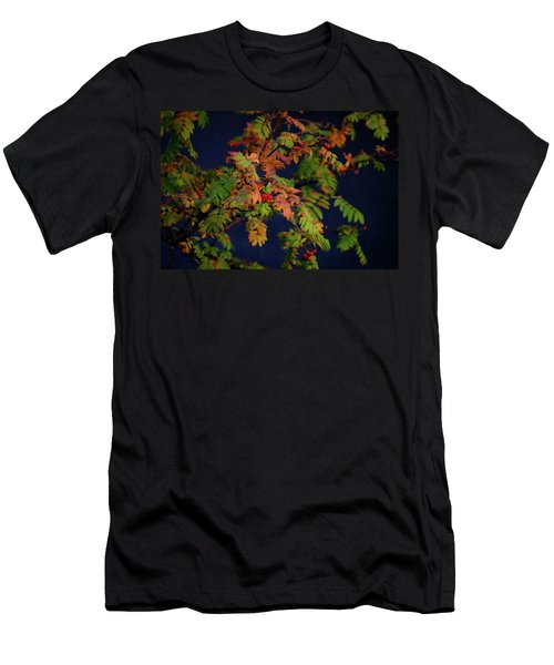 Men's T-Shirt (Athletic Fit) featuring the photograph Autumn Berries by RKAB Works