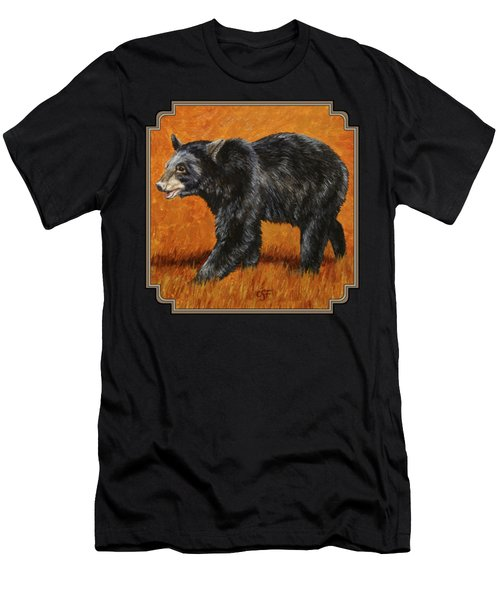 Autumn Black Bear Men's T-Shirt (Athletic Fit)