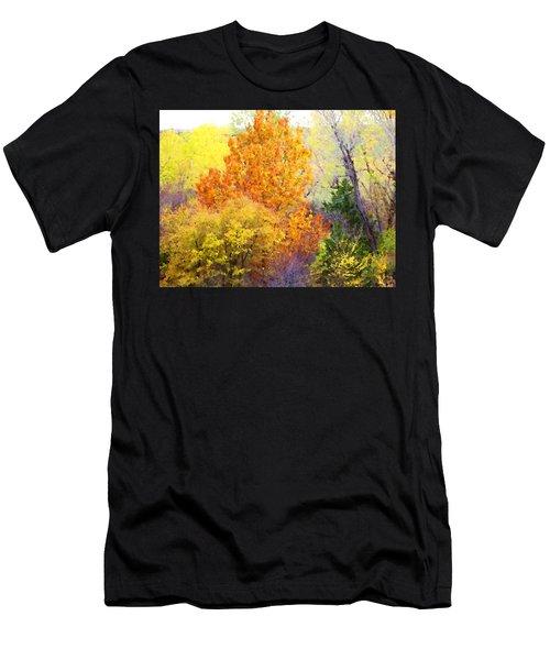 Men's T-Shirt (Athletic Fit) featuring the digital art Autumn Blaze  by Shelli Fitzpatrick