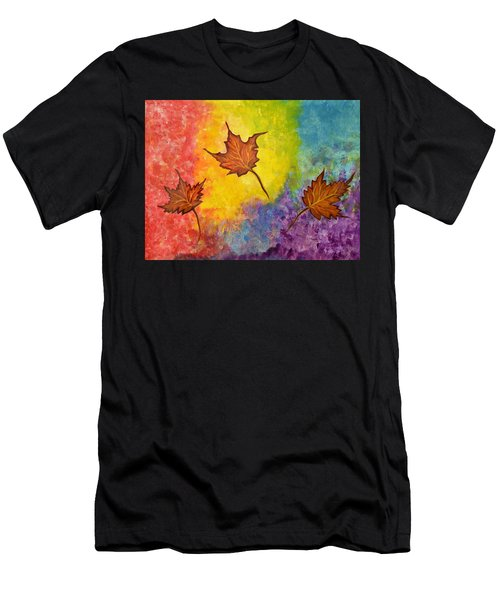 Autumn Bliss Colorful Abstract Painting Men's T-Shirt (Athletic Fit)