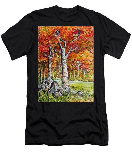 Autumn Bloom Men's T-Shirt (Athletic Fit)