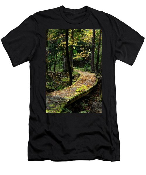 Autumn Boardwalk Men's T-Shirt (Athletic Fit)
