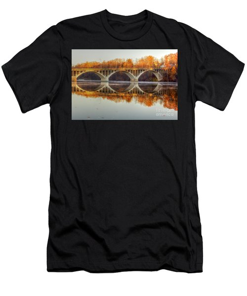 Autumn Bridge Reflections Men's T-Shirt (Athletic Fit)