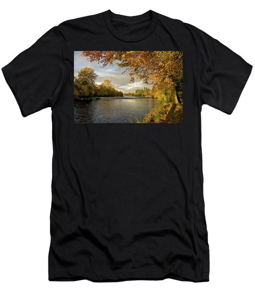 Autumn By The River Ness Men's T-Shirt (Slim Fit) by Jacqi Elmslie