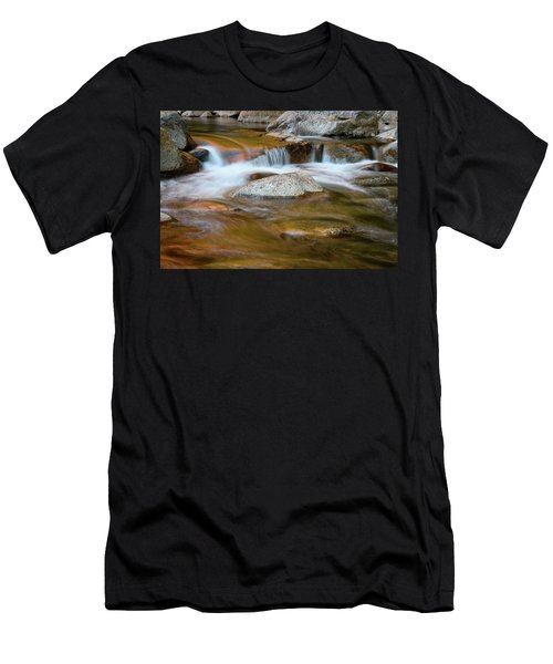 Men's T-Shirt (Athletic Fit) featuring the photograph Autumn Cascade Nh by Michael Hubley