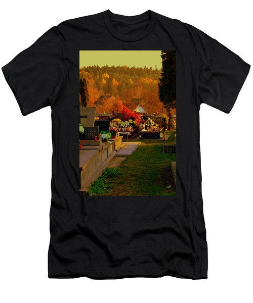 Autumn Cemetery Men's T-Shirt (Athletic Fit)