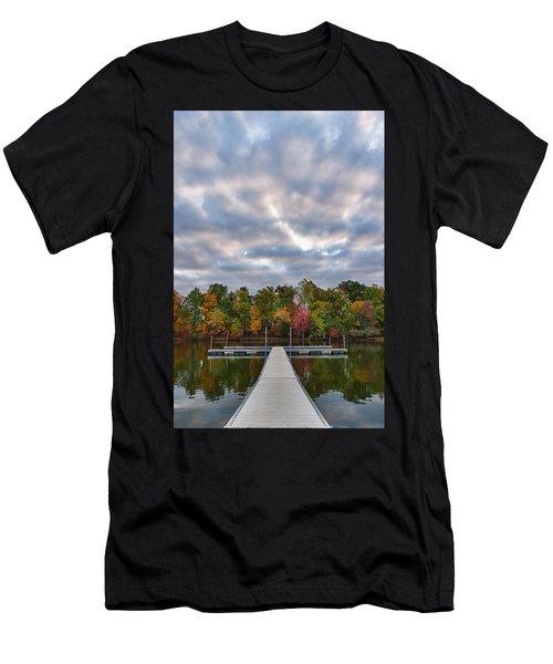 Autumn Colors At The Lake Men's T-Shirt (Athletic Fit)