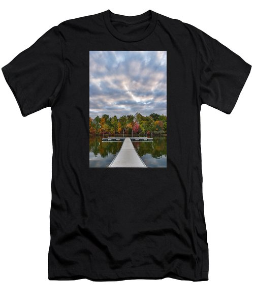 Autumn Colors At The Lake Men's T-Shirt (Athletic Fit)