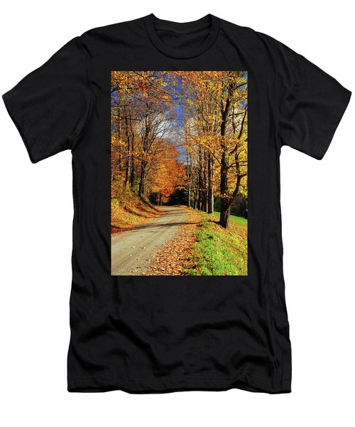 Autumn Country Road Men's T-Shirt (Athletic Fit)