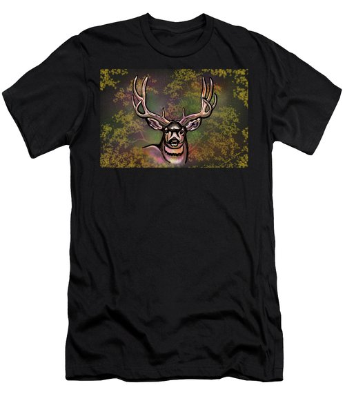 Autumn Deer Abstract Men's T-Shirt (Athletic Fit)