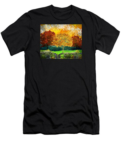 Autumn Fantasy Men's T-Shirt (Slim Fit) by Ally White