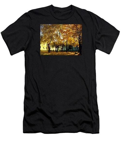 Autumn Festival Of Colors Men's T-Shirt (Slim Fit) by Henryk Gorecki