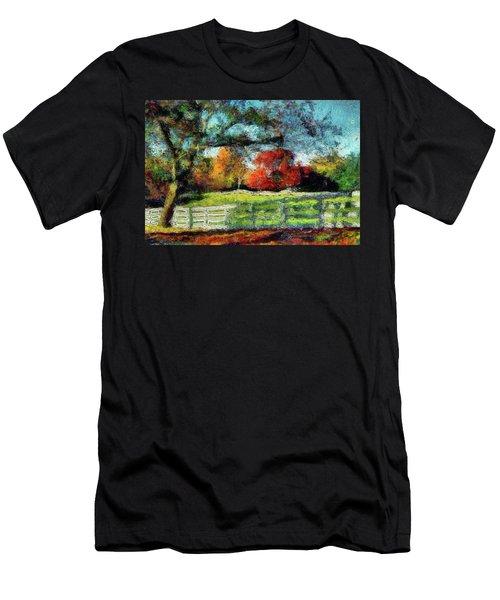 Autumn Field On The Farm Men's T-Shirt (Athletic Fit)