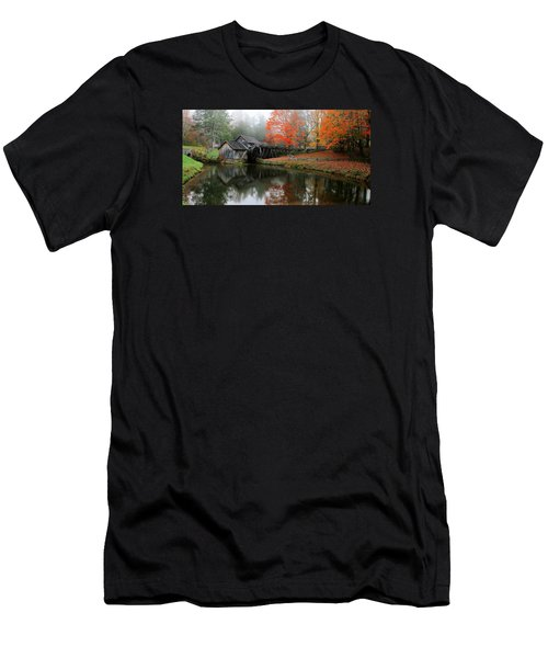 Autumn Foggy Morning At Mabry Mill Virginia  Men's T-Shirt (Athletic Fit)