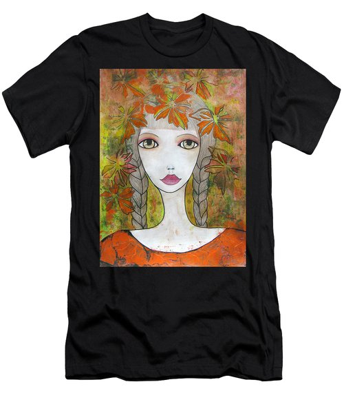 Autumn Girl  Men's T-Shirt (Athletic Fit)