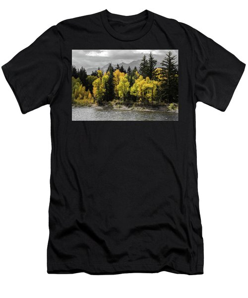 Men's T-Shirt (Athletic Fit) featuring the photograph Autumn Glow by Colleen Coccia