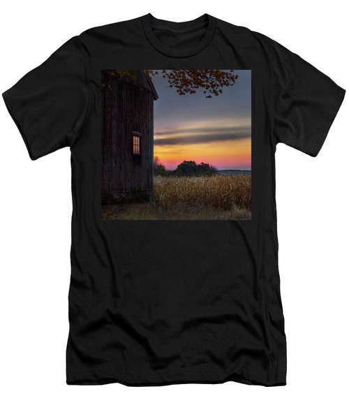 Men's T-Shirt (Slim Fit) featuring the photograph Autumn Glow Square by Bill Wakeley
