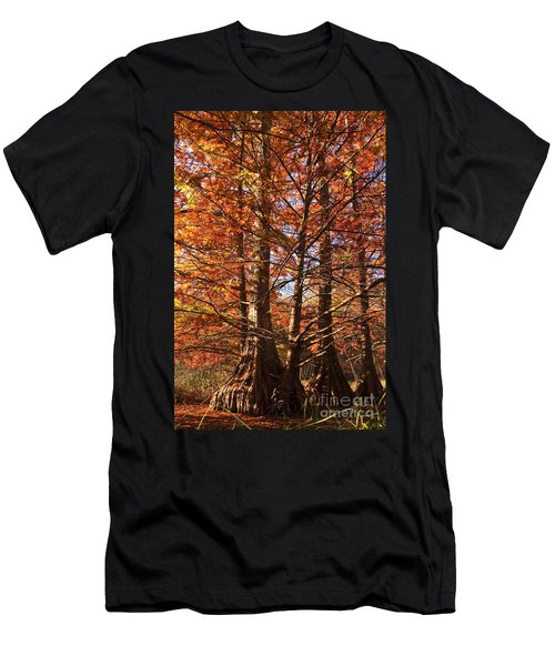 Men's T-Shirt (Slim Fit) featuring the photograph Autumn Grandeur At Lake Murray by Tamyra Ayles
