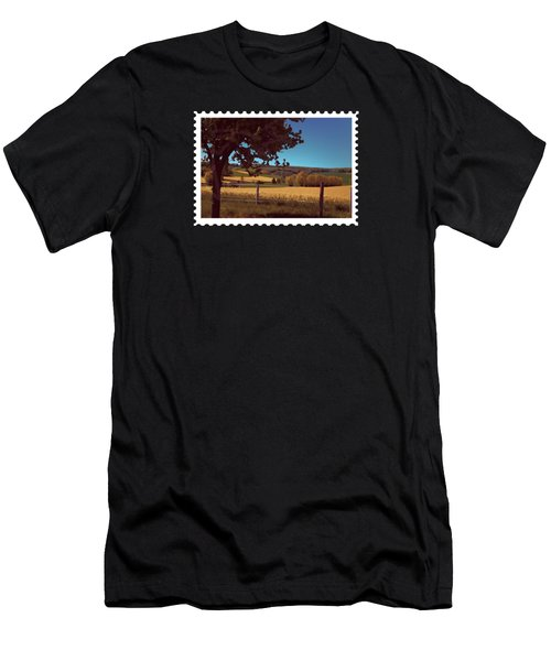 Autumn Harvest Wheat Field Men's T-Shirt (Athletic Fit)