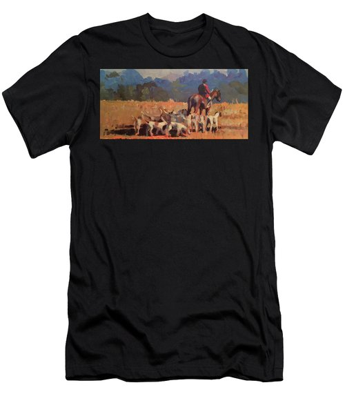 Autumn Hunt Crew Men's T-Shirt (Athletic Fit)