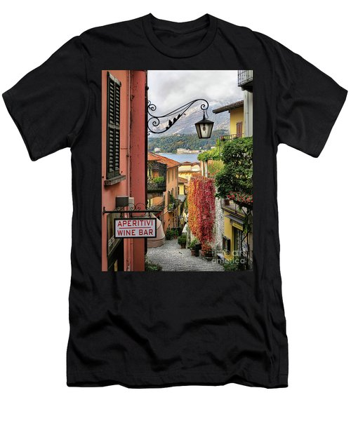 Autumn In Bellagio Men's T-Shirt (Slim Fit) by Jennie Breeze