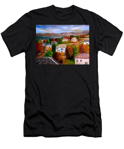 Autumn In Greece Men's T-Shirt (Athletic Fit)