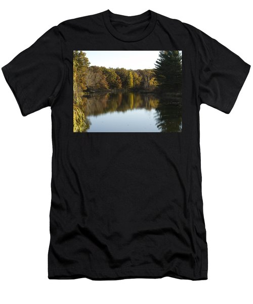 Autumn In Mears Michigan Men's T-Shirt (Slim Fit) by Tara Lynn