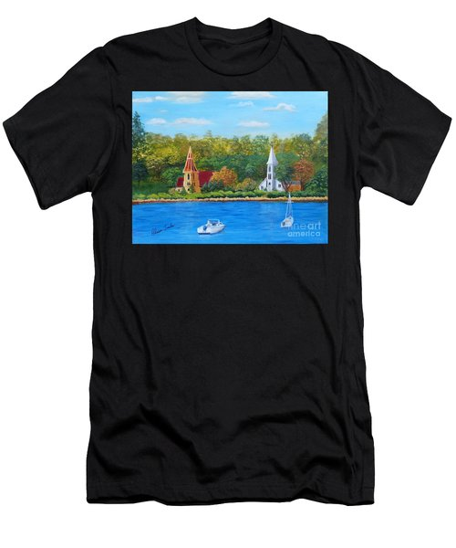Autumn In Nova Scotia Men's T-Shirt (Athletic Fit)