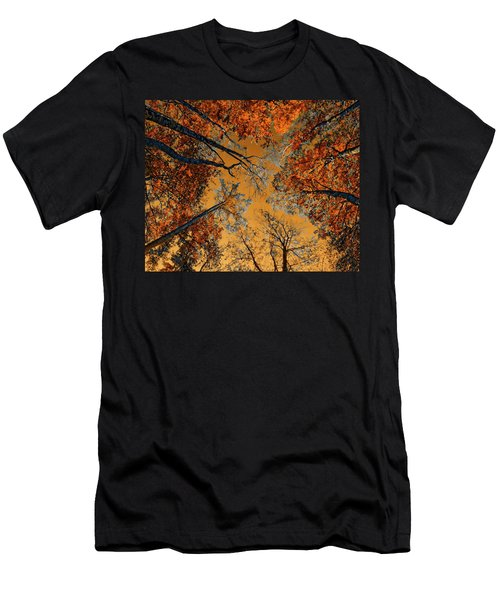 Men's T-Shirt (Athletic Fit) featuring the photograph Autumn In The Forest by Anthony Dezenzio