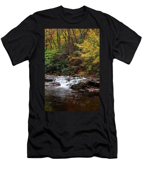 Autumn In The Smokies Men's T-Shirt (Slim Fit) by Andrew Soundarajan