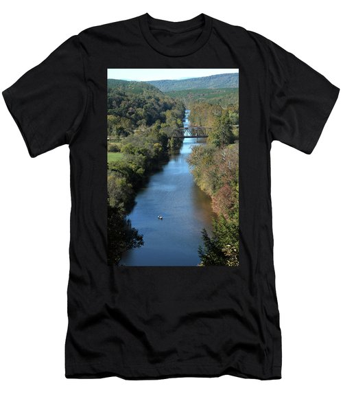 Autumn Landscape With Tye River In Nelson County, Virginia Men's T-Shirt (Athletic Fit)