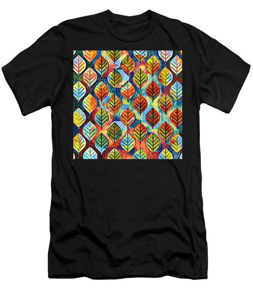 Autumn Leaves Abstract Men's T-Shirt (Athletic Fit)