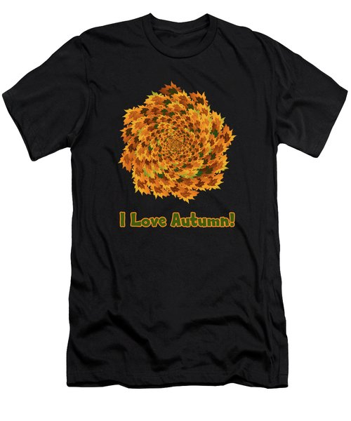 Autumn Leaves Pattern Men's T-Shirt (Athletic Fit)