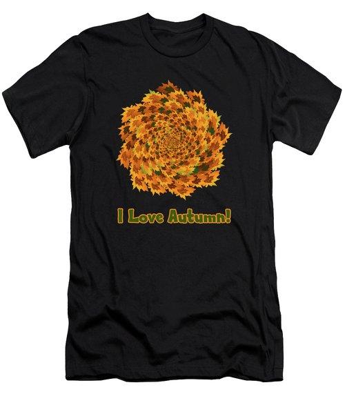 Autumn Leaves Pattern Men's T-Shirt (Athletic Fit)
