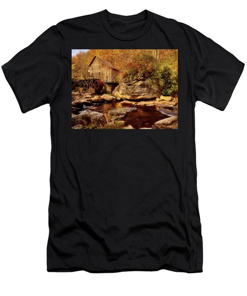 Autumn Mill Men's T-Shirt (Slim Fit) by L O C