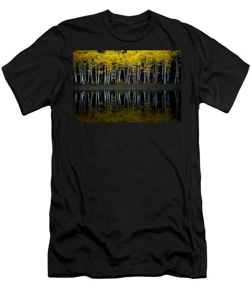 Men's T-Shirt (Athletic Fit) featuring the photograph Autumn Mirror by Dustin  LeFevre