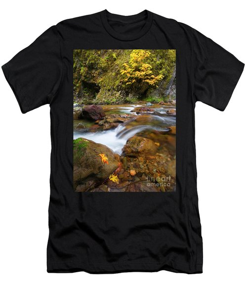 Men's T-Shirt (Slim Fit) featuring the photograph Autumn Moment by Mike Dawson