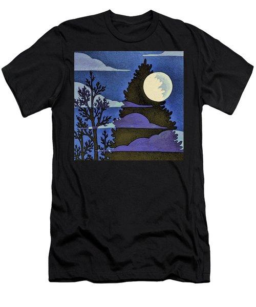 Autumn Moon Men's T-Shirt (Athletic Fit)
