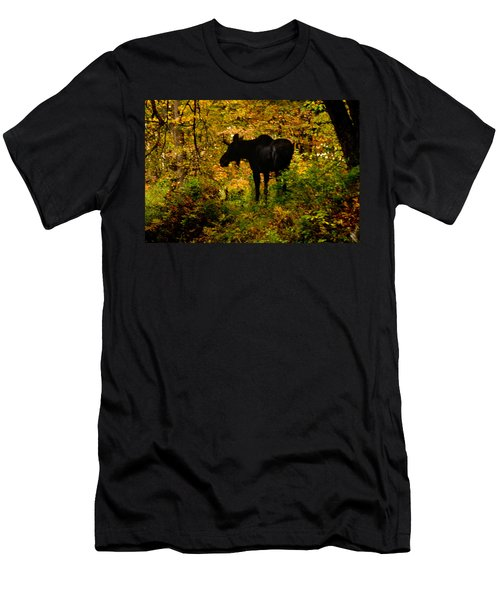 Autumn Moose Men's T-Shirt (Athletic Fit)