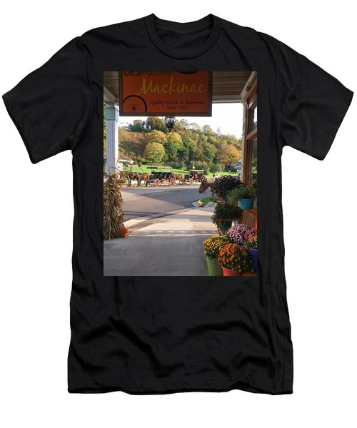 Autumn Morning On Mackinac Island Men's T-Shirt (Athletic Fit)