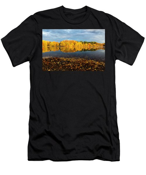 Autumn Morning Reflection On Lake Pentucket Men's T-Shirt (Athletic Fit)