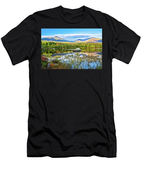 Autumn Mt.katahdin Baxter Sp Maine Men's T-Shirt (Athletic Fit)