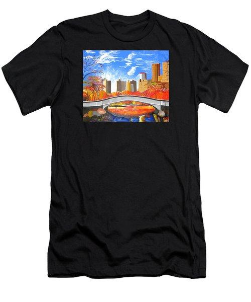Autumn Oasis Men's T-Shirt (Athletic Fit)