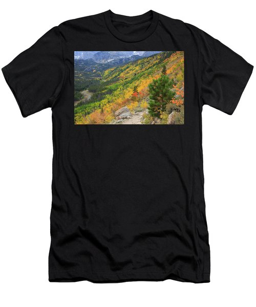 Autumn On Bierstadt Trail Men's T-Shirt (Athletic Fit)