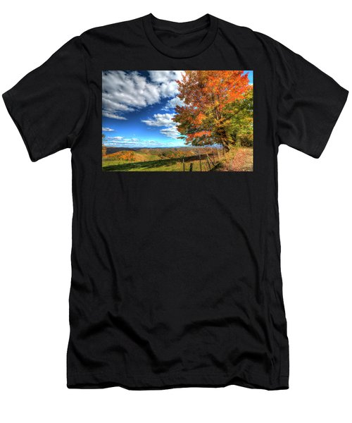 Autumn On The Windfall Men's T-Shirt (Athletic Fit)